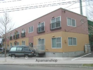 上野幌 バス10分 停歩3分 1階 2LDK 賃貸アパート