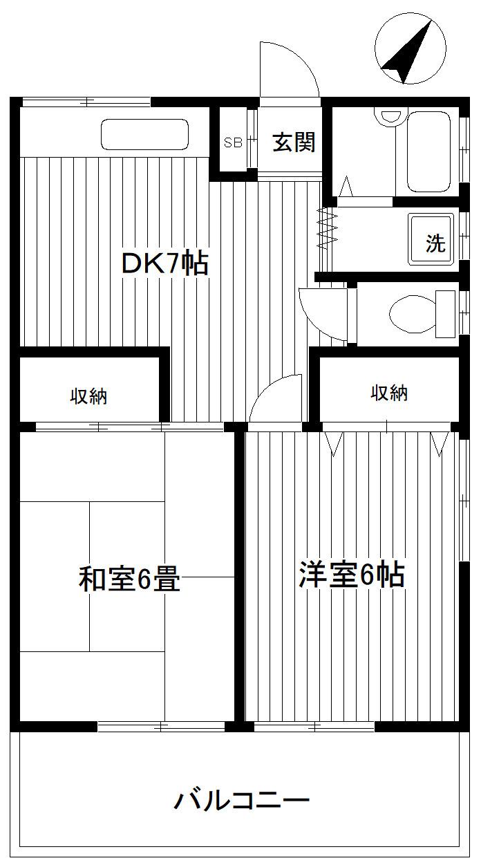 港南台 バス4分 停歩4分 1階 2DK 賃貸アパート