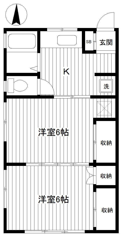 洋光台 徒歩13分 2階 2K 賃貸アパート