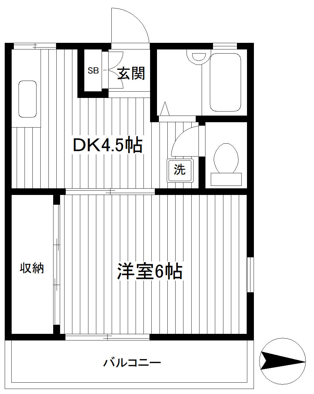 港南中央 徒歩13分 1階 1DK 賃貸アパート