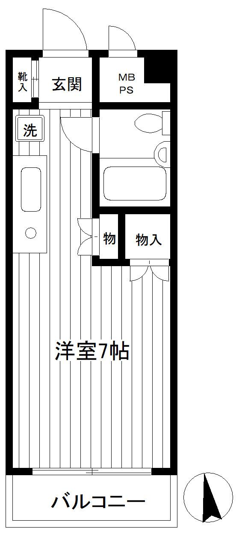 新横浜 徒歩24分 5階 1R 賃貸マンション