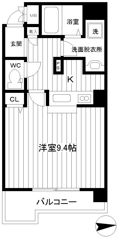 新杉田 徒歩5分 7階 1K 賃貸マンション
