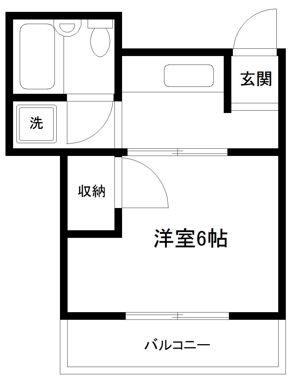 杉田 徒歩3分 2階 1K 賃貸マンション