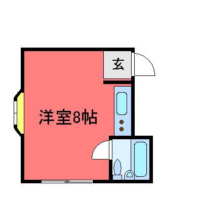 庄内 徒歩15分 2階 1R 賃貸マンション