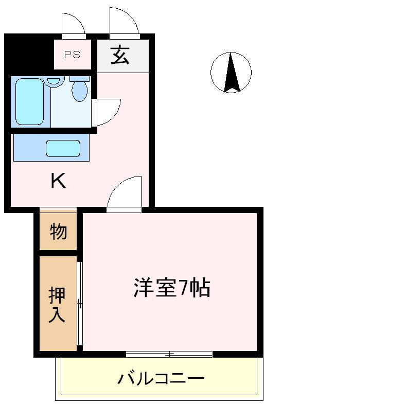 服部天神 徒歩16分 4階 1K 賃貸マンション