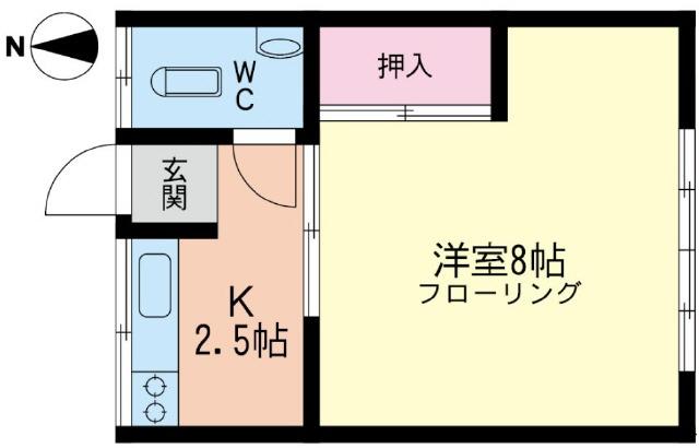 茅ヶ崎 バス8分 停歩4分 1階 1K 賃貸アパート