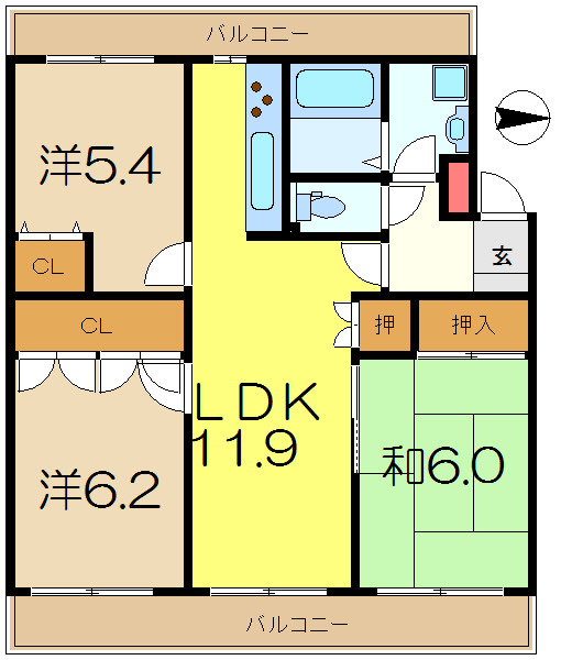 港南台 徒歩18分 4階 3LDK 賃貸マンション