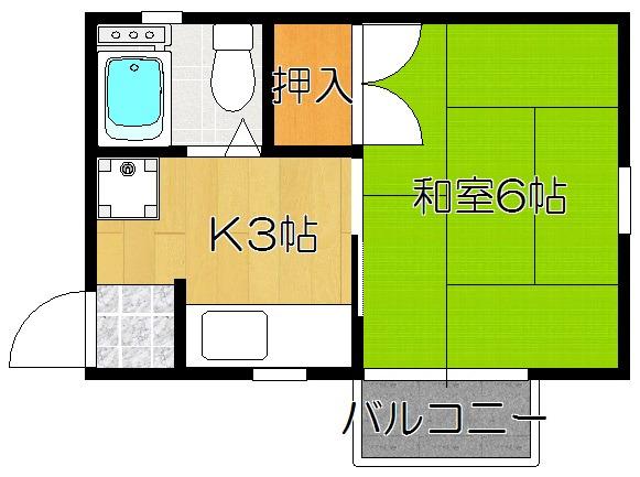 松戸 徒歩14分 2階 1K 賃貸アパート