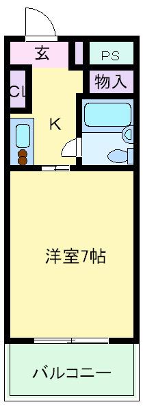 帝塚山 徒歩9分 2階 1K 賃貸マンション