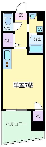 南田辺 徒歩8分 2階 1K 賃貸マンション