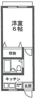 日吉 徒歩4分 2階 1K 賃貸アパート