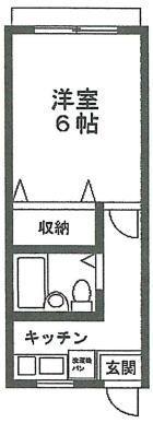 日吉 徒歩4分 1階 1K 賃貸アパート