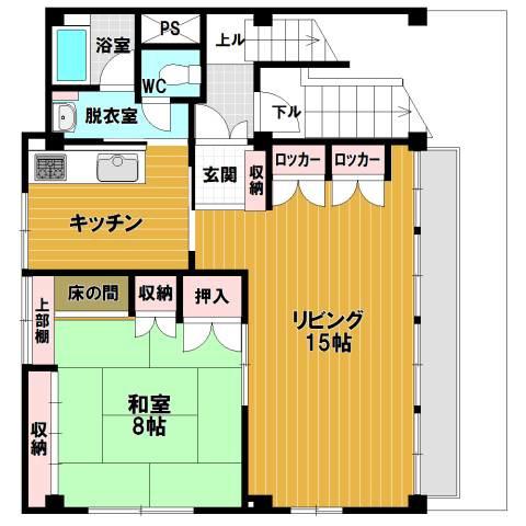 大阪 徒歩12分 5階 1LDK 賃貸マンション
