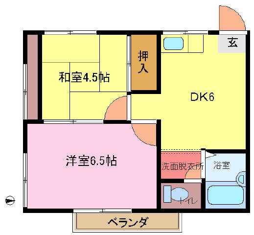 流山おおたかの森 徒歩23分 2階 2DK 賃貸アパート