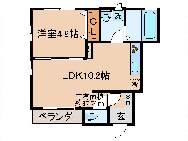 黄檗 徒歩12分 1階 1LDK 賃貸アパート