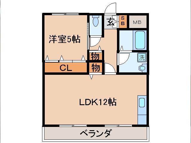 東野 徒歩17分 2階 1LDK 賃貸マンション