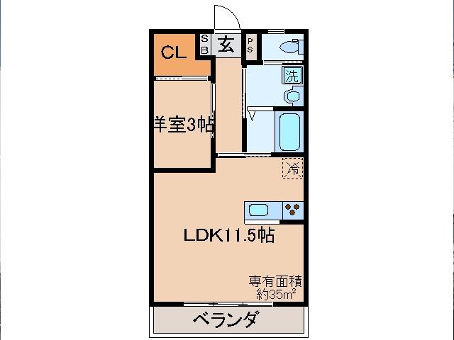 東野 徒歩26分 2階 1LDK 賃貸マンション