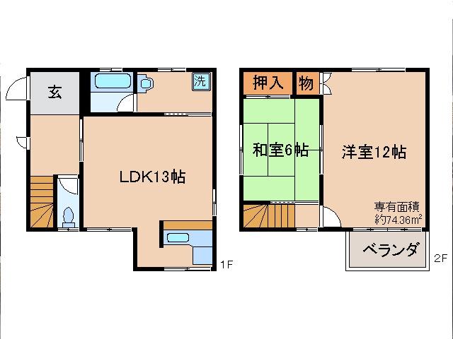 三室戸 徒歩21分 1階 2LDK 賃貸貸家