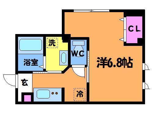 芦花公園 徒歩3分 1階 1K 賃貸マンション