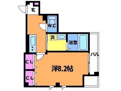 芦花公園 徒歩3分 2階 1K 賃貸マンション