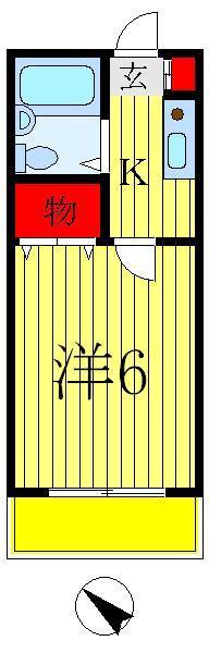 松戸 徒歩23分 2階 1K 賃貸コーポ