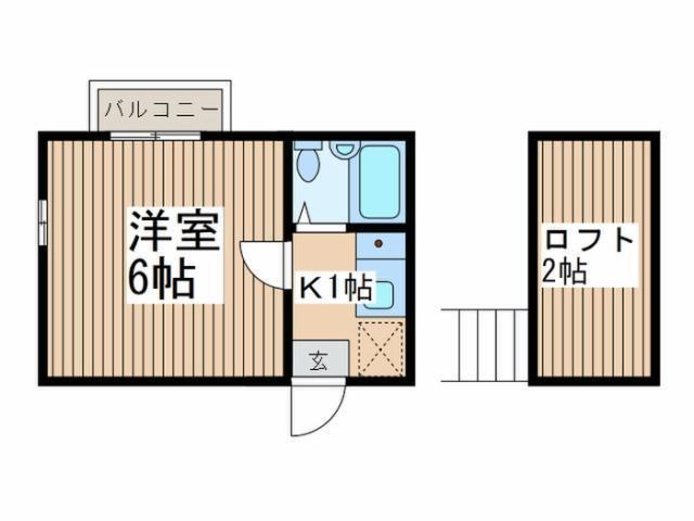 新秋津 徒歩25分 2階 2DK 賃貸コーポ