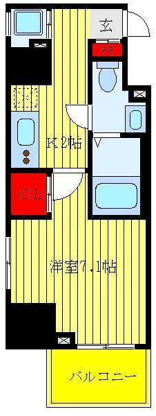 上野 徒歩14分 3階 1K 賃貸マンション