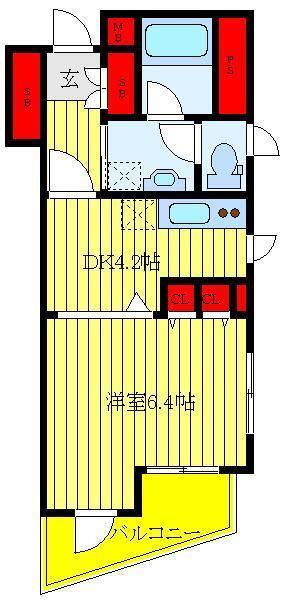 根津 徒歩6分 5階 1DK 賃貸マンション