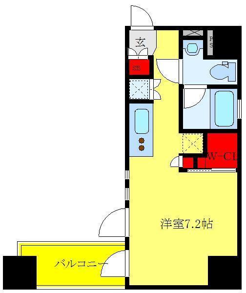 三河島 徒歩15分 5階 1R 賃貸マンション