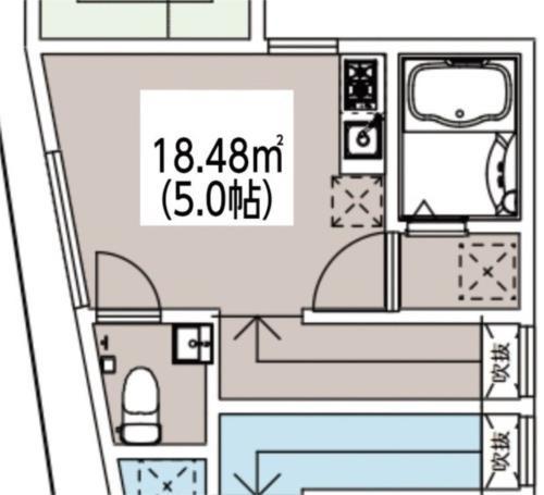 王子 徒歩23分 2階 1R 賃貸アパート