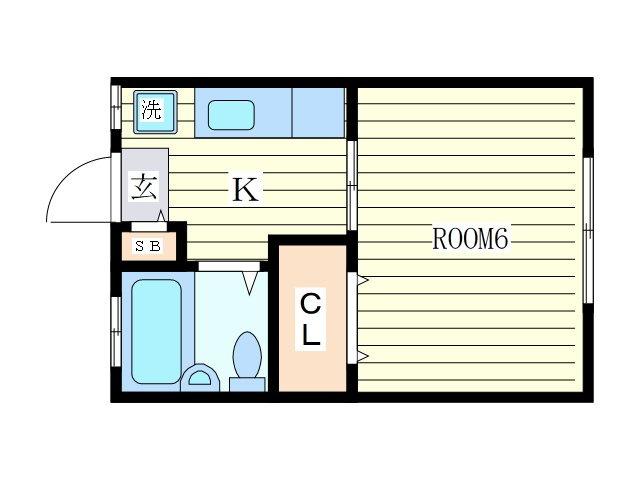 大山 徒歩13分 2階 1R 賃貸アパート
