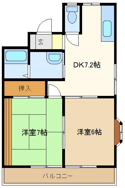 春日部 徒歩21分 2階 2DK 賃貸アパート