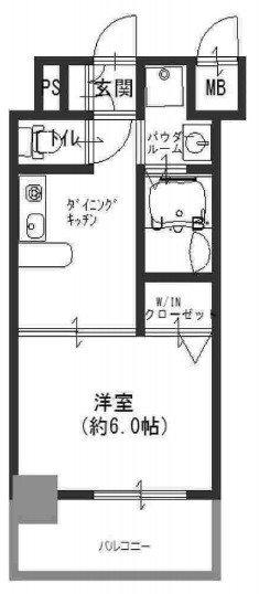 間取り/地積図エステムプラザ梅田・扇町公園パークランド