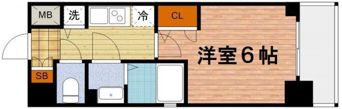 間取り/地積図 プロシード梅田西アヴァンセ