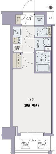 間取り/地積図プランドール福島レジデンス