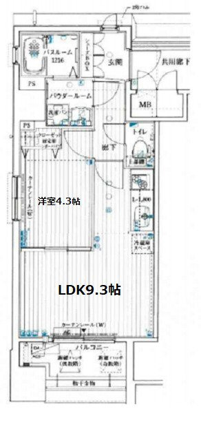 間取り/地積図アドバンス西梅田