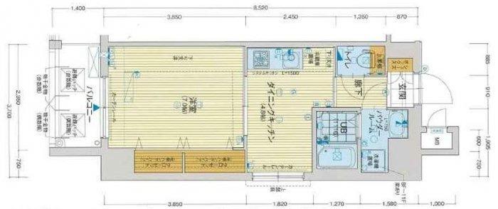 間取り/地積図アスヴェル梅田WEST(ウエスト)