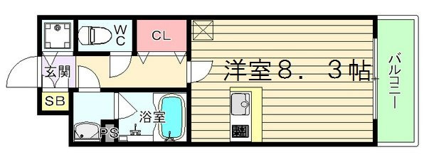 間取り/地積図エスリード梅田西第5