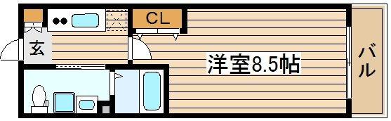 間取り/地積図エスライズ四ツ橋