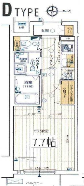 間取り/地積図レジュールアッシュ梅田リュクス