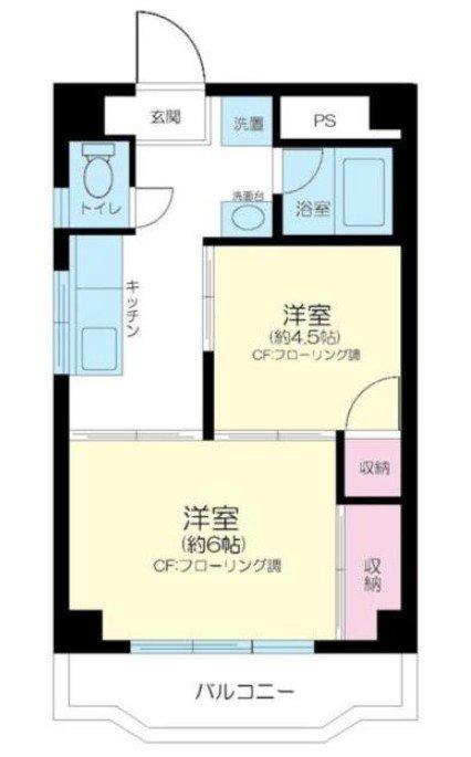 船堀 徒歩29分 2階 2K 賃貸マンション