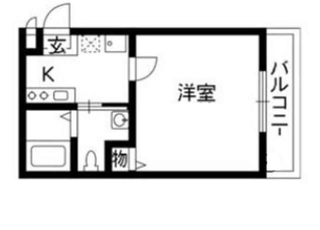 大山 徒歩5分 2階 1R 賃貸アパート