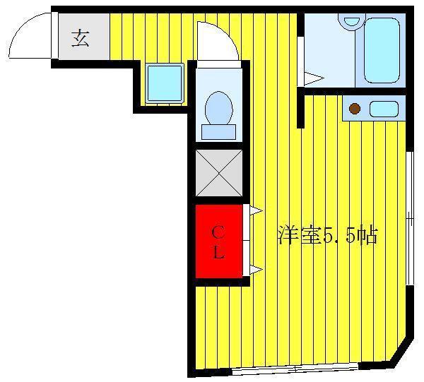 西巣鴨 徒歩13分 2階 1R 賃貸マンション