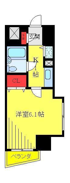 東十条 徒歩14分 4階 1K 賃貸マンション