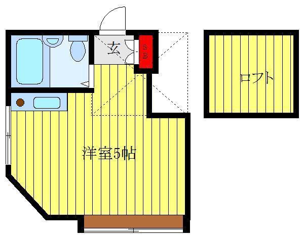 板橋区役所前 徒歩15分 2階 1R 賃貸アパート