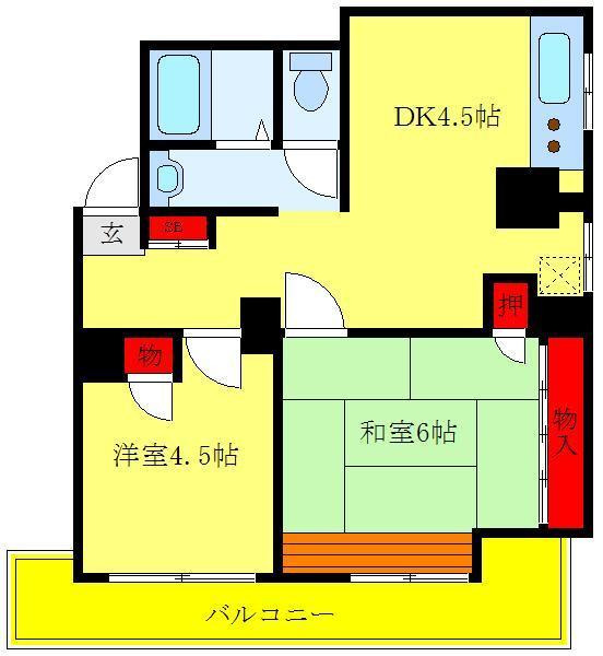 庚申塚 徒歩9分 1階 2K 賃貸マンション