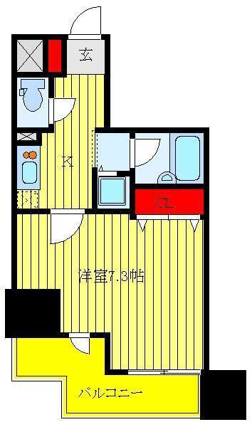 大山 徒歩8分 9階 1K 賃貸マンション
