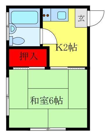 尾久 徒歩7分 2階 1K 賃貸アパート