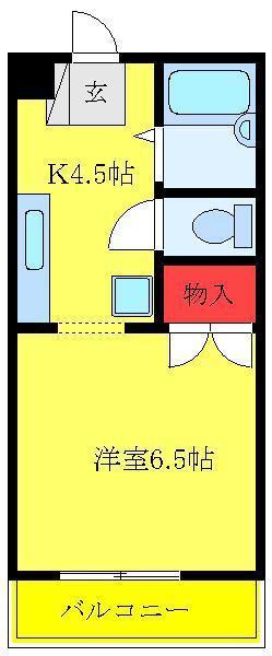 赤羽岩淵 徒歩18分 3階 1K 賃貸マンション