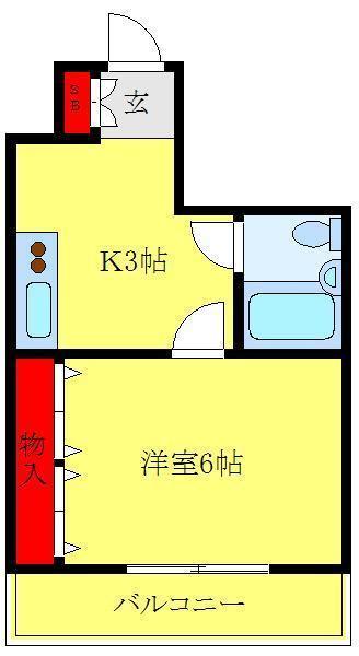 尾久 徒歩6分 4階 1K 賃貸マンション